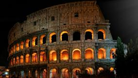 Roman Colosseum Night View